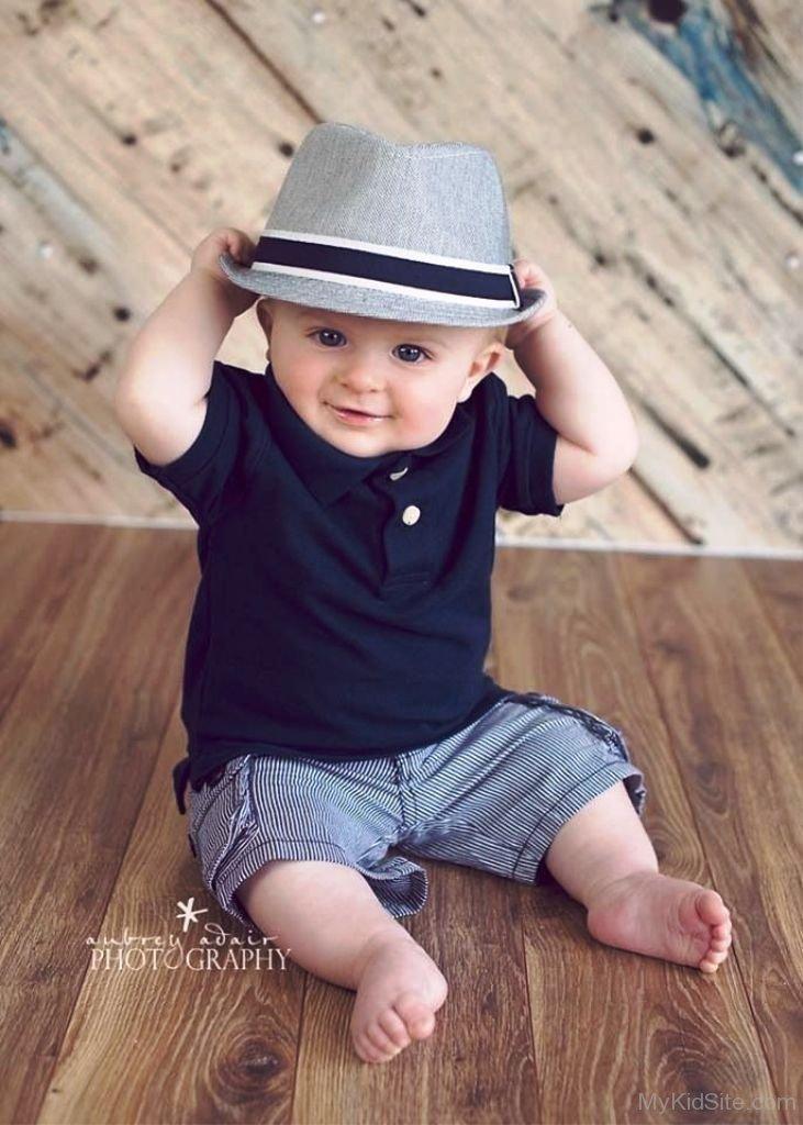Cute Baby Boy Wearing Hat